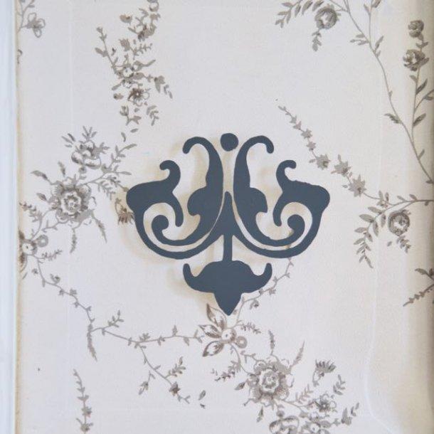 Blomstermotiv - selvklæbende dekoration