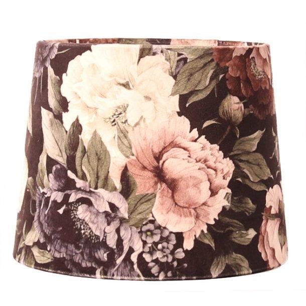 Lampeskærm i blomster design - lys buket