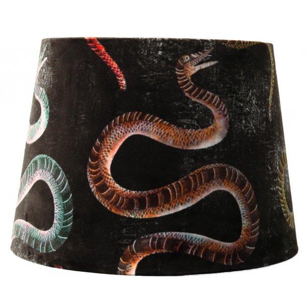 Lampeskærm i flot design - snirkel / slange