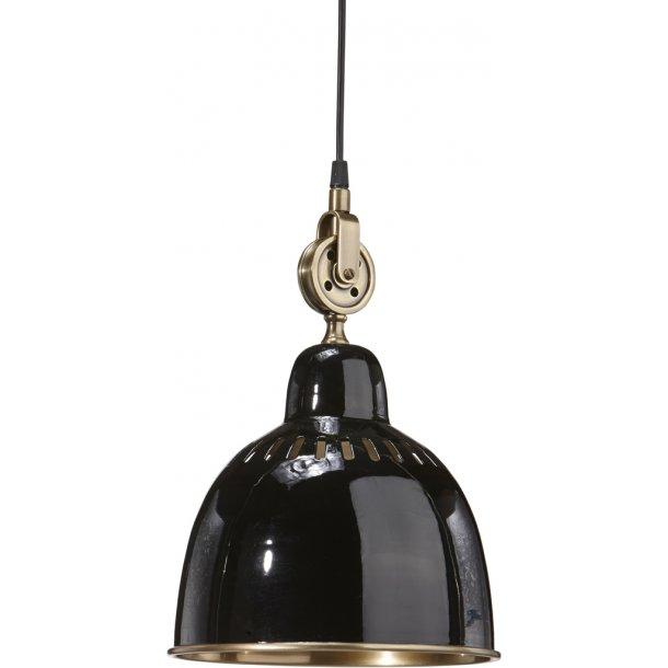 Loftslampe - factory vintage - sort metal