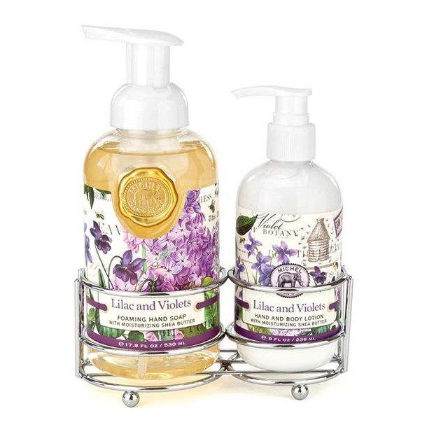 Håndplejesæt - lotion og sæbe - Lilac & Violets