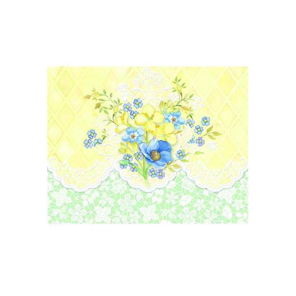 Kort og kuvert - sunny bouquet - 10 stk