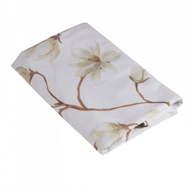 Dug med fin magnolia blomst -  linned - 250 cm