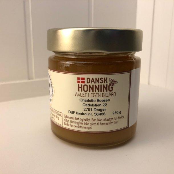 Dansk Honning - avlet i egen bigård - 250 gram