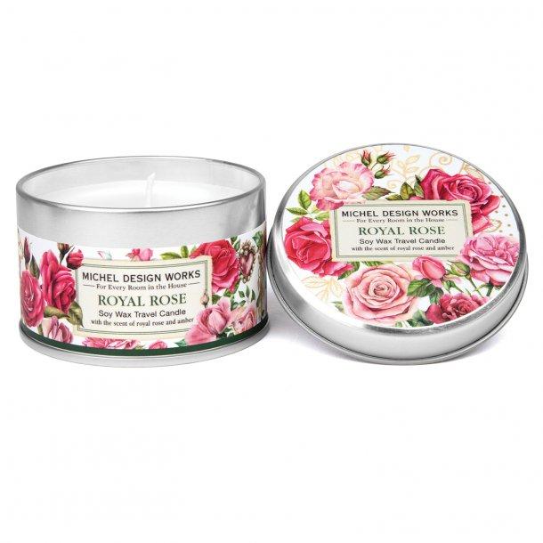 Duftlys i dåse - Royal Rose - duft af roser