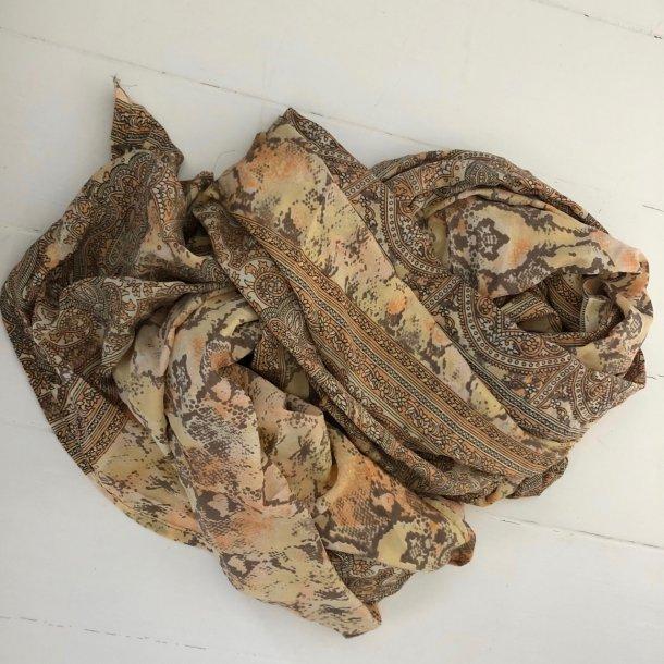 Dejligt unikt silketørklæde - Vintage saree silke - 100x220 cm