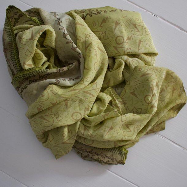 Dejligt unikt og smukt silketørklæde - Vintage saree silke - 100x220 cm