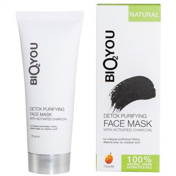 Ansigtsmaske - med aktivt kul - Bio2you - 75 ml.