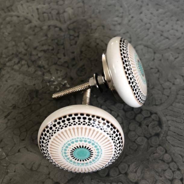 d702b9f0 Knop med fint mønster - porcelæn - Vintage-Kompagniet - Vintage ...