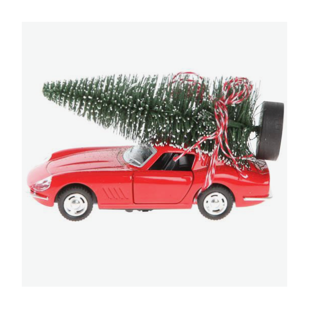 Julebil - Driving home for christmas - rød