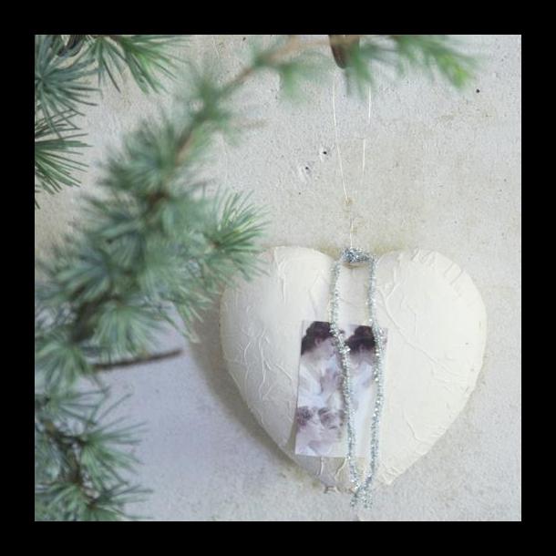 Julehjerte med smukke juleengle - nostalgisk klassisk julepynt