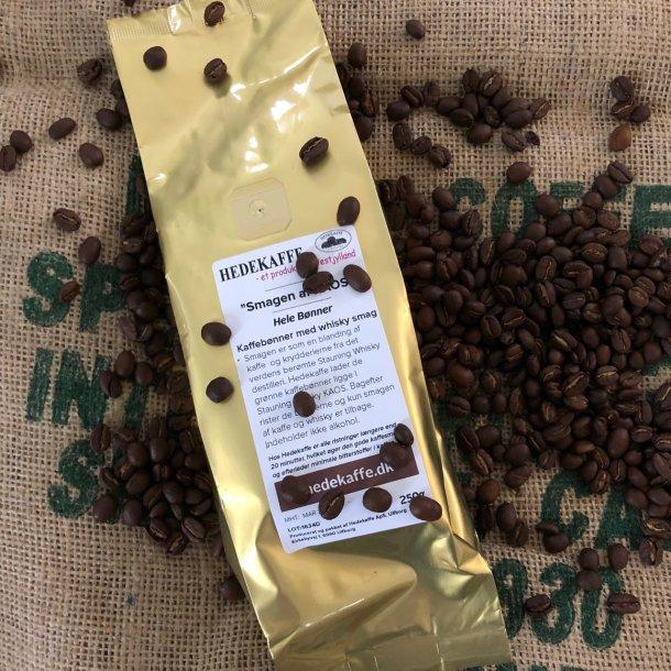 Kaffebønner med ÆGTE whisky smag - hele bønner - 250 gram