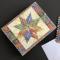 Kort og kuvert - quilt - 10 stk