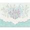 Kort og kuvert - blomsterhjerte - 10 stk