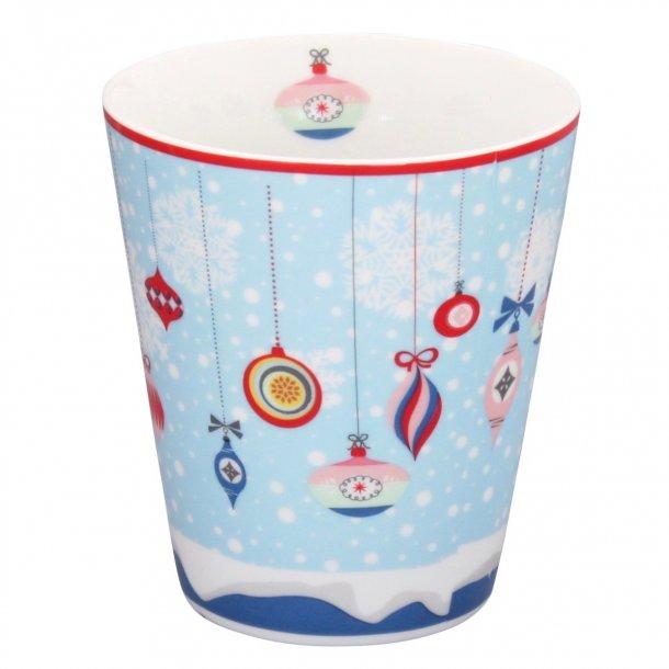 Julekrus - Happy mug - med fine juleornamenter