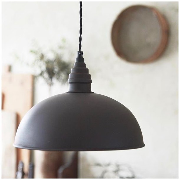 Loftslampe i rustik factory vintage stil - mørk metal