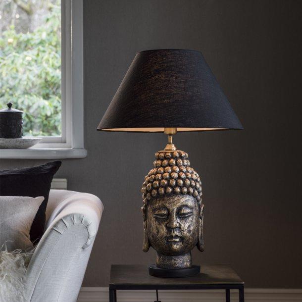Buddha lampefod i antik messing