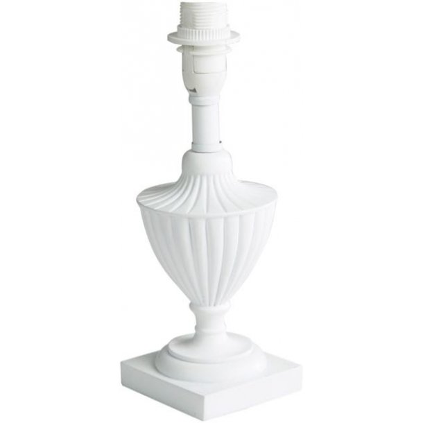 Hvid bordlampe i super smukt design