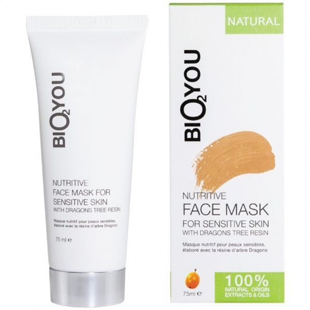 Ansigtsmaske - pleje til sensitiv hud - Bio2you - 75 ml.