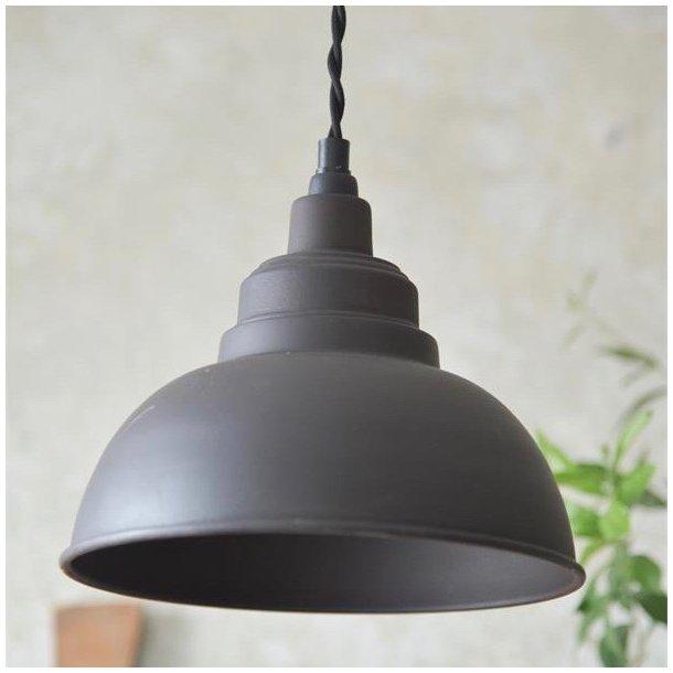 Loftslampe i factory vintage stil - mørk metal