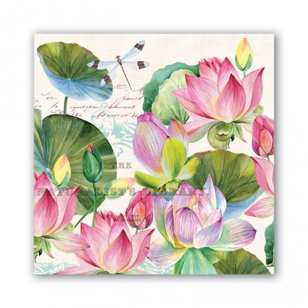 Lunch servietter - Water lilies - smuk borddækning - 20 stk