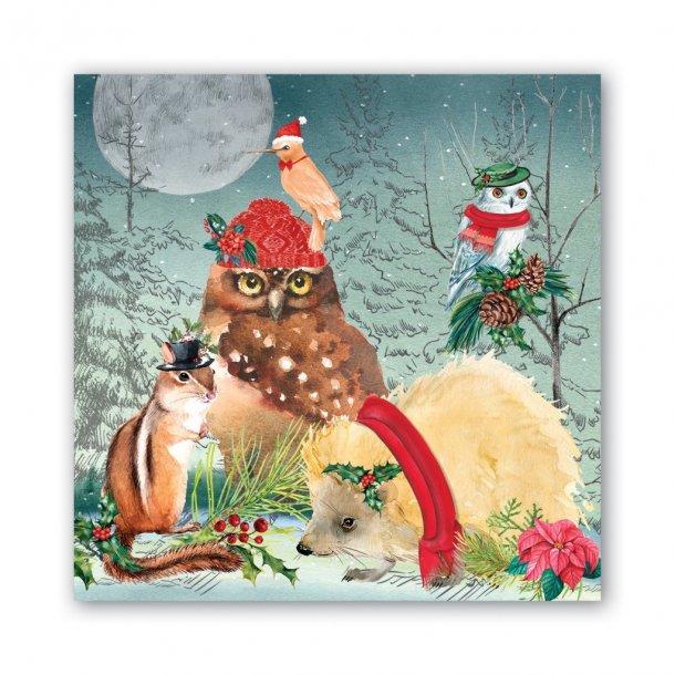 Lunch servietter med skønt julemotiv - Christmas Party - 20 stk.