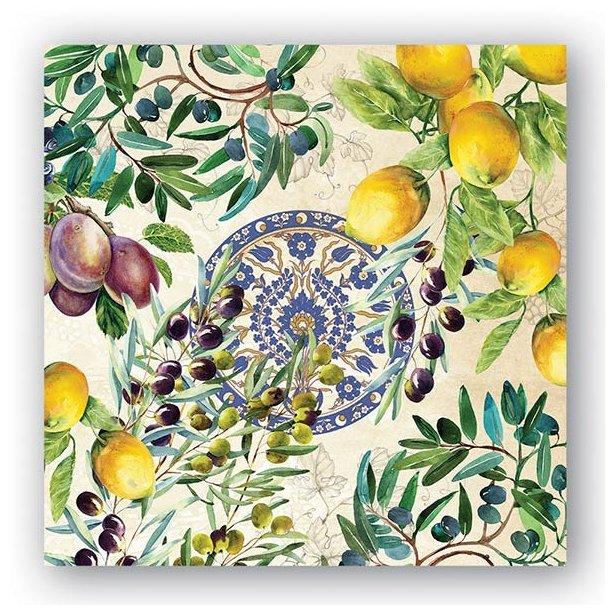 Lunch servietter - Tuscan grove - smuk borddækning - 20 stk