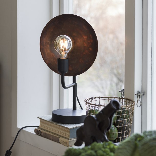 Factory vintage lampe - med patina