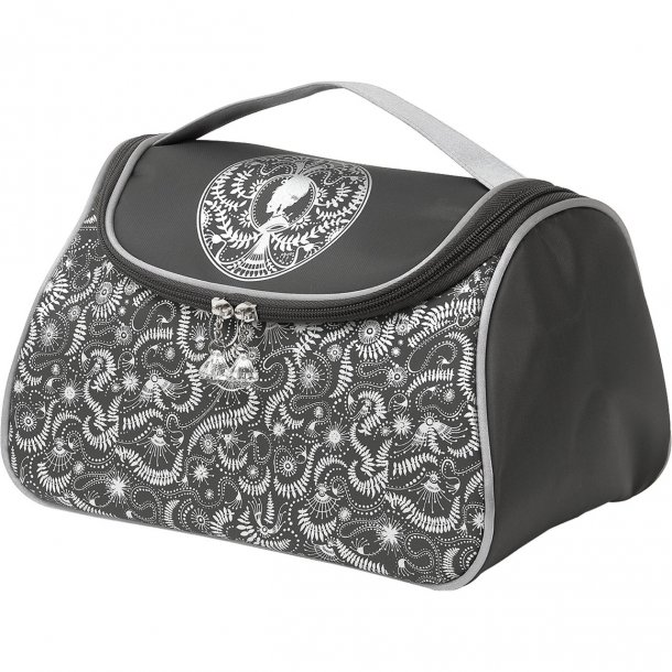 Beautybag med plads til det hele - toilettaske med smuk dekoration - Mathilde-M
