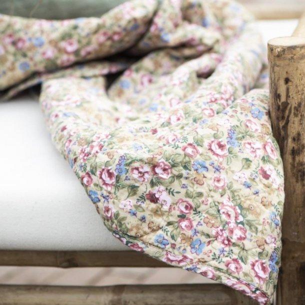Blomstret quilt - beige